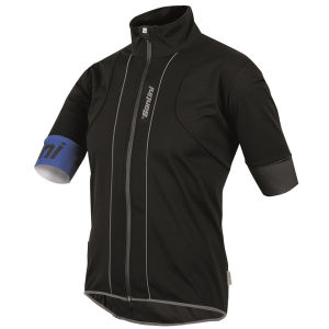 Santini Reef Water and Wind Short Sleeve Jersey - Black