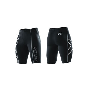 2XU Men's Compression Shorts - Black/Silver Logo