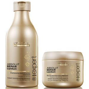 L'Oreal Professionnel Absolut Repair Lipidium Shampoo (250 ml) och Masque (200 ml) (Bundle)