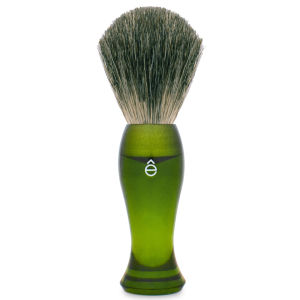 eShave Long Shave Brush Plastic Handle Green