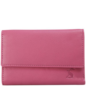 Joules Finchley Leather Purse - Dark Pink