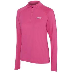 Asics Women's Long Sleeve 1/2 Zip Running Top - Magenta