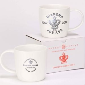 Repeat Repeat Queens Diamond Jubilee Mug