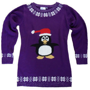 Christmas Jumper - Party Penguin Jumper Dress