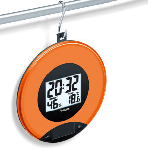 Kitchen Scales and Wall Clock - Peach