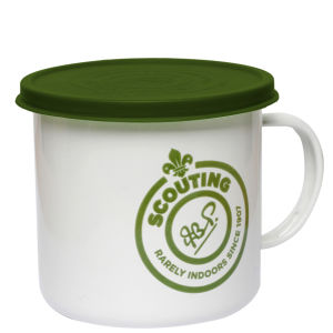 Enamel Scout Mug with Lid