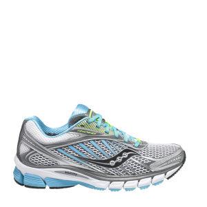 Saucony Women's Ride 6 Running Shoe - Silver/Blue/Cotton