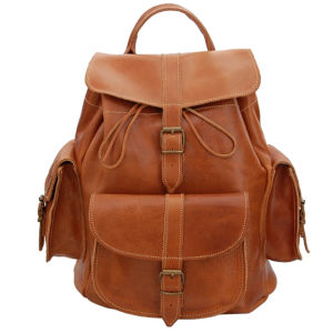 Grafea Show Business Medium Leather Rucksack - Caramel