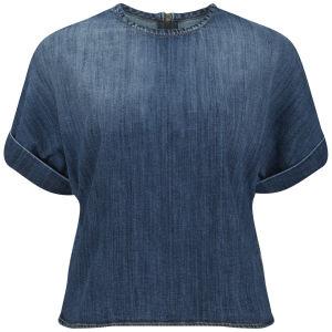Current/Elliott Women's Whirlwind Denim T-Shirt - Mid Blue
