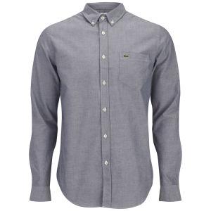 Lacoste Men's Long Sleeve Oxford Shirt - Naval Blue