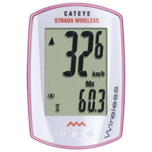 Cateye Strada Wireless 8 Cycle Computer - Pink