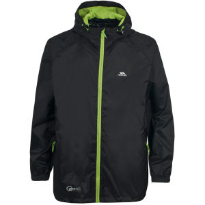 Trespass Men's Qikpac Jacket - Black/Green