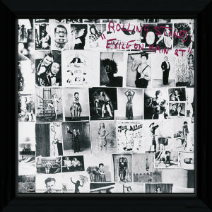 "The Rolling Stones Exile on Main - 12"""" x 12"""" Framed Album Prints"