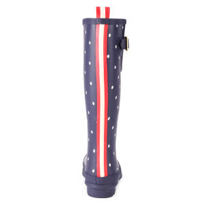 Joules Women's Welly Print Wellies - Navy Spot: Image 3
