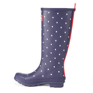 Joules Women's Welly Print Wellies - Navy Spot: Image 4
