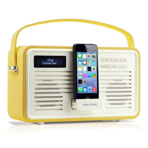 View Quest Colourgen Retro Radio und Dock, senf