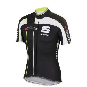 Sportful Gruppetto Pro Team Short Sleeve Jersey - Black/White/Yellow