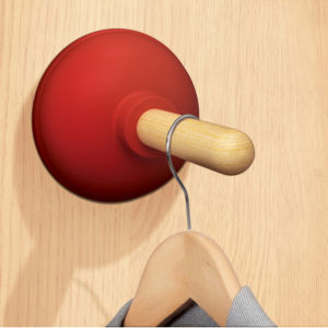 Plunged: Plunger Shaped Door Hook