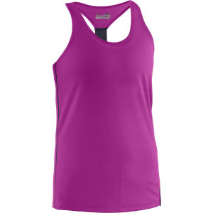 Under Armour Women's Fly-By Stretch Mesh Tank Top - Strobe/Lead/Reflective
