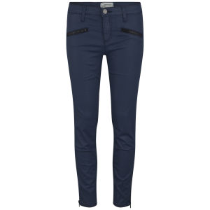 Current/Elliott Women's The Soho Coated Zip Stiletto Jeans - Navy