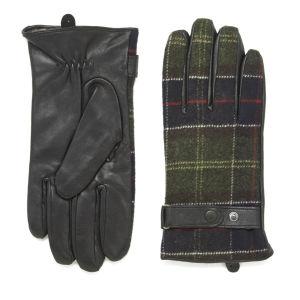 Barbour Tartan Leather Glove - Black/Classic