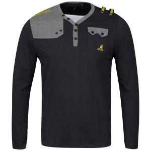 Kangol Men's Fez Jersey Long Sleeved T-Shirt - Charcoal