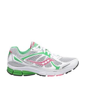 Saucony Women's Jazz 16 Running Shoe - White/Green/Pink