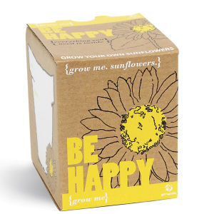 Grow Me Be Happy Sunflower
