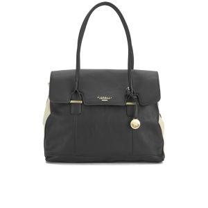 Fiorelli Ella Flapover Tote Bag - Black Monochrome