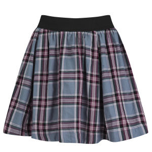 ONLY Women's Melisa Tartan Skater Skirt - Cloud Dancer
