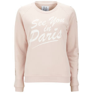 Zoe Karssen Women's See You In Paris Stars Sweatshirt - Pink
