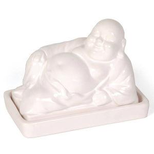 Buddha Butter Dish - White