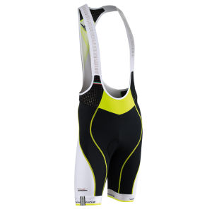Northwave Galaxy Bib Shorts - Black/Yellow Fluo