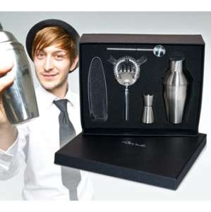 Cocktail Shaker Set - Brushed Stainless Steel