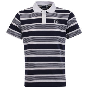 Sergio Tacchini Men's Drop Out Polo-Shirt - Navy/White