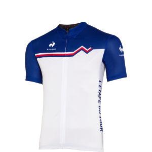 Le Coq Sportif Men's Etape du Tour Performance Jersey - White/Blue
