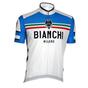 Bianchi Cianciana Short Sleeve Jersey - White/Blue