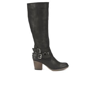 Ravel Women's Utah Knee High Leather Heeled Boots - Black