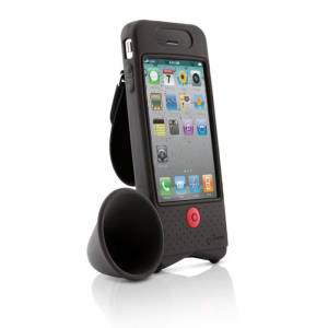 Bike Horn Amplifier for iPhone 4 - Black