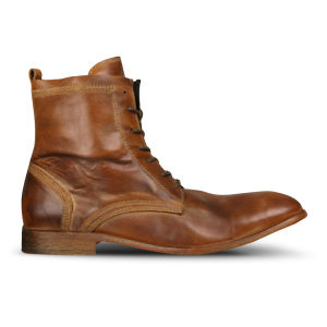 H Shoes by Hudson Men's Swathmore Calf Leather Boots - Tan