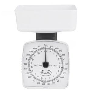 Swan 5kg White Kitchen Scales