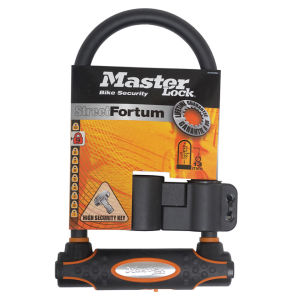 Master Lock Street Fortum Gold Sold Secure D Lock - Black