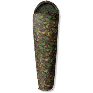 Gelert Tryfan Classic Camouflage 300dDL Sleeping Bag - Zip Right
