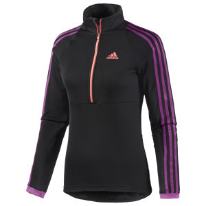 adidas Women's Response Long Sleeve Jersey - Black/Pink