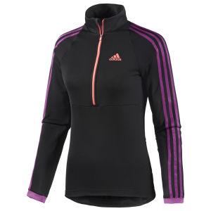 adidas Women's Response Long Sleeve Jersey - Black/Pink