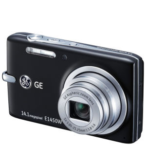 GE E1450W Digital Camera - Black (14MP, 5 x Optical, 2.7 Inch LCD)