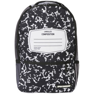 Sprayground Composition Deluxe Backpack - Black/White