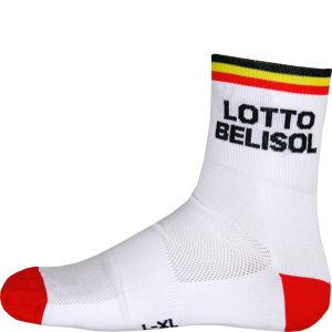 Lotto Belisol Team Replica Socks - Red 2014