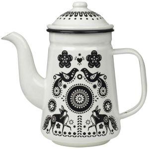 Folklore Enamel Tea and Coffee Pot