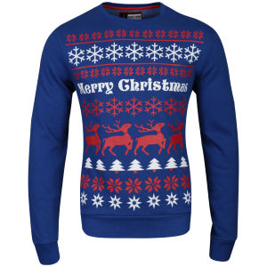 Christmas Branding Alpine Crew Neck Sweat - True Blue